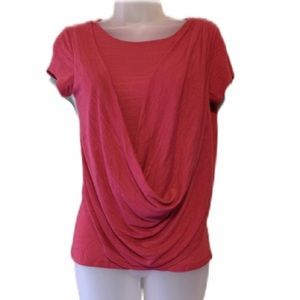 Diane Von Furstenberg Draped Wool Blend Blouse